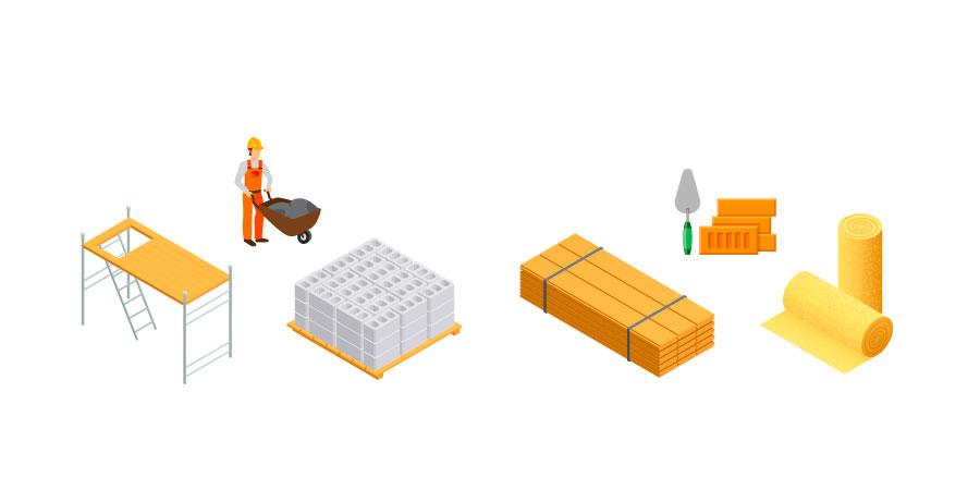 nomes para Material de construção
